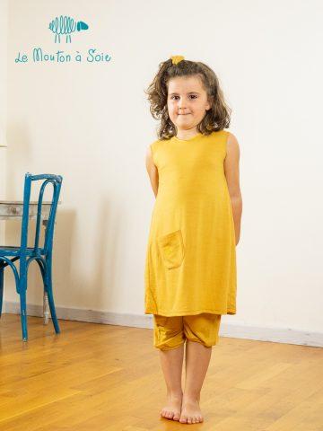 Robe évolutive enfant Apoche jaune