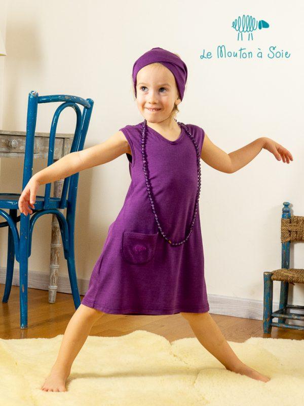 Robe évolutive enfant Apoche violette
