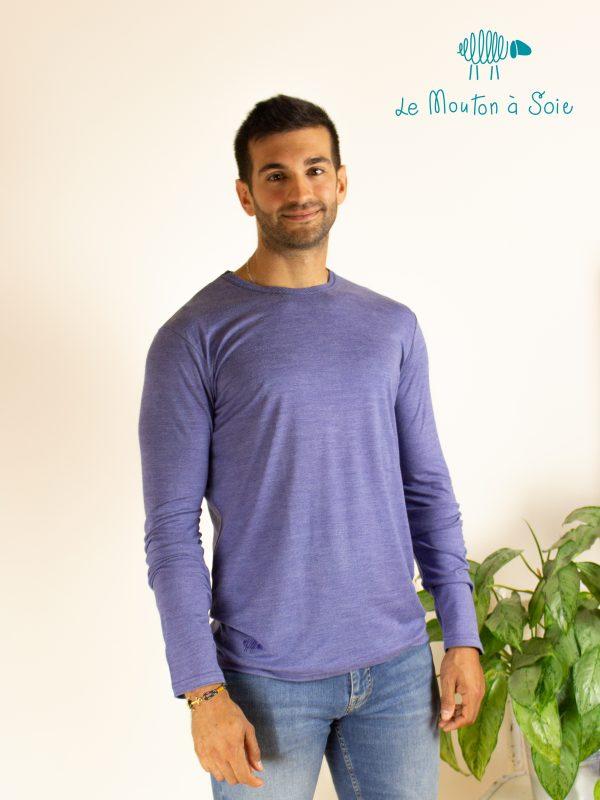 tee-shirt manche longue homme