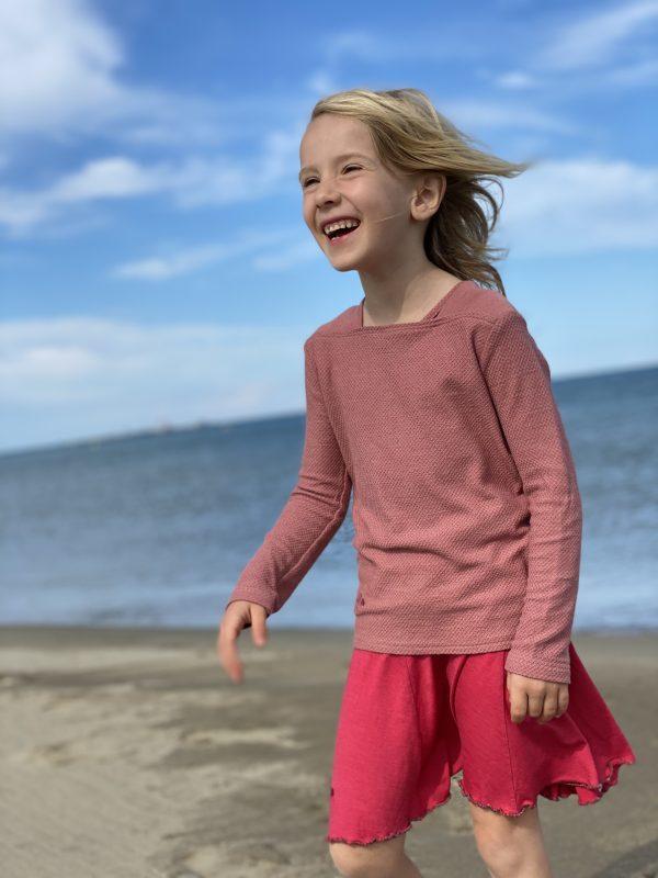 tee-shirt manches longueset jupe enfant laine et soie