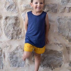 petit short enfant débardeur laine et soie