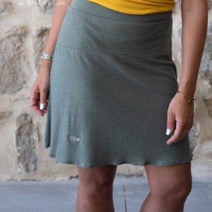 jupe discrete femme laine et soie