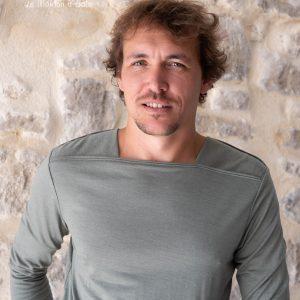 tee-shirt manches longues homme femme col bateau laine et soie