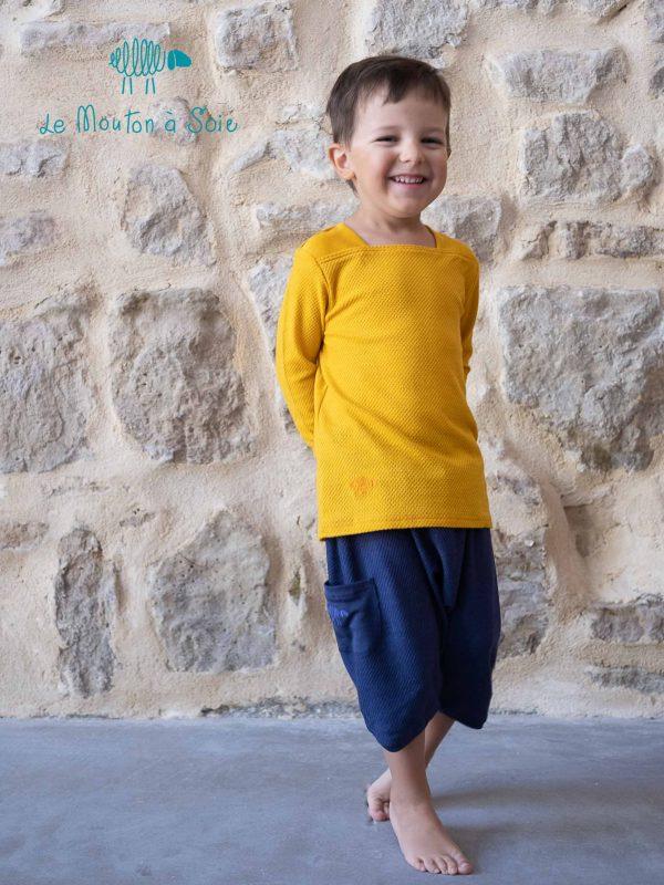 tee-shirt moussaillon manches longues enfant et bloomer enfant