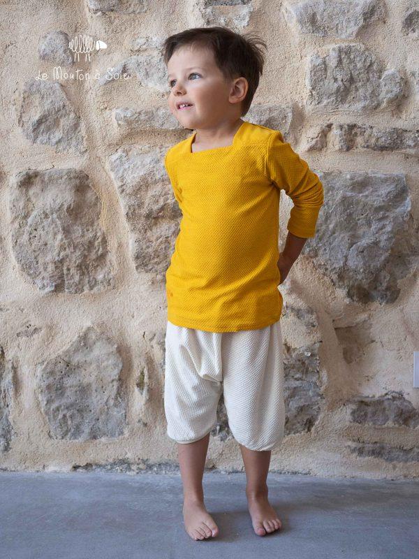 bloomer enfant et tee-shirt moussaillon mancheslongues enfant laine et soie