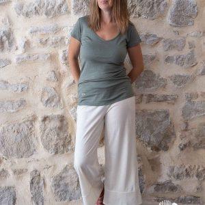 pantalon coolchic femme laine et soie