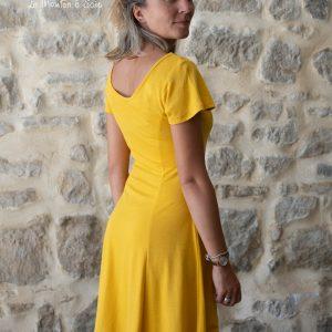 robe danseuse femme laine et soie