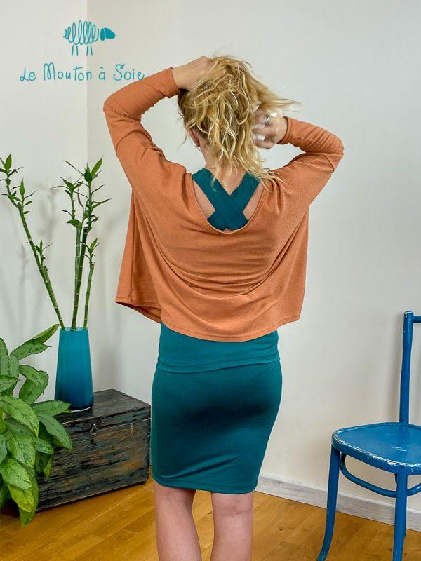 top oversize femme