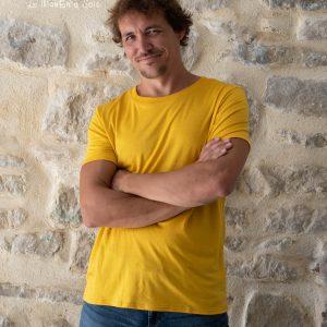 tee-shirt homme basic manches courtes laine et soie