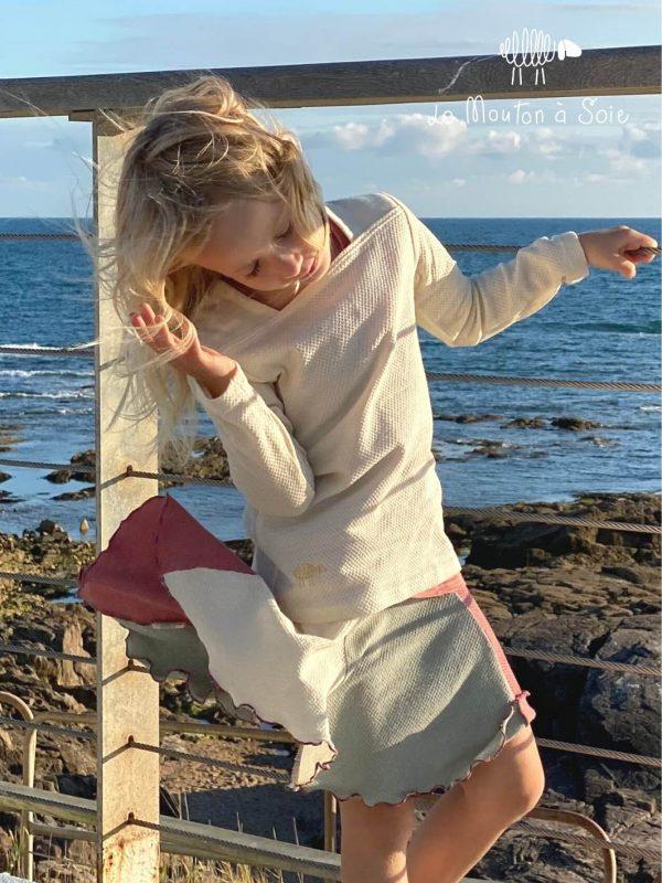 tee-shirt moussaillon mancheslongues enfant jupe laine et soie