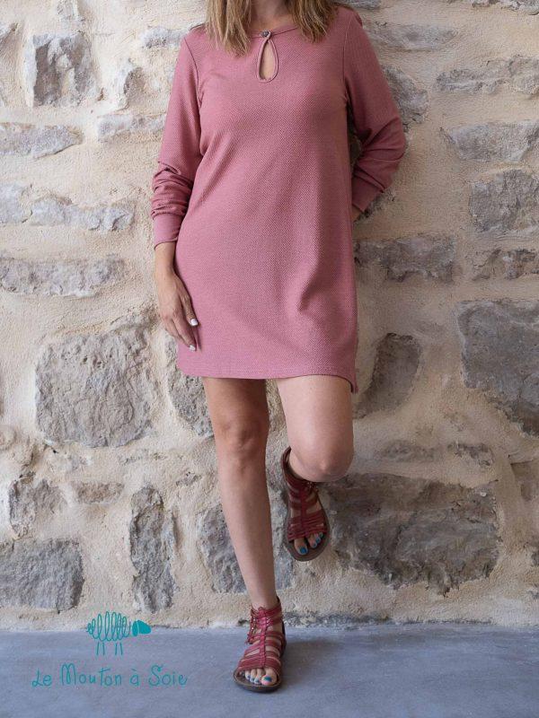 tunique orientale femme laine et soie